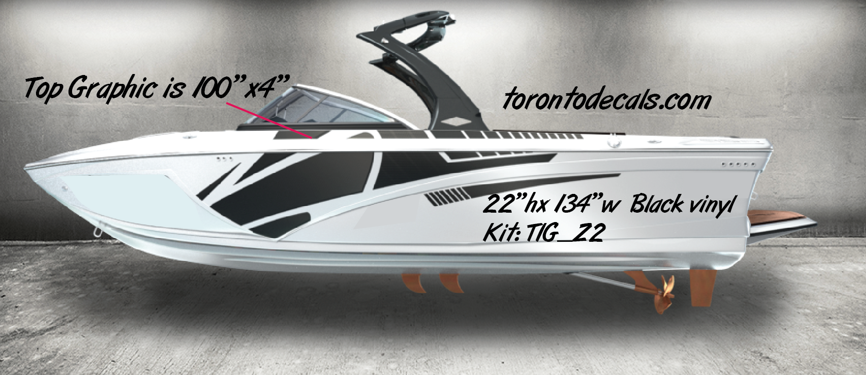 Tige Boat Graphic KitsTige Boat Vinyl Kits Boat Decals In - Boat decal graphics
